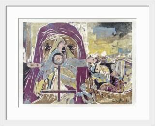Farbholzschnitt aus dem Zyklus Bibelfrauen von EDITHA Pröbstle