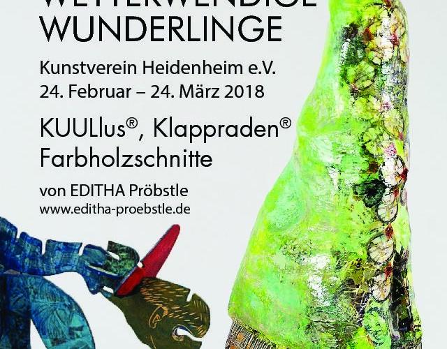 Wetterwendige Wunderlinge machen Station im Kunstverein Heidenheim